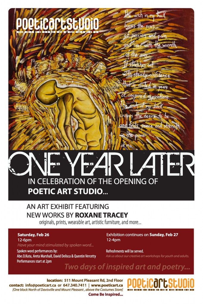 art, exhibtion, toronto, spoken, word, february, black, history, month